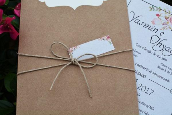 Convite Envelope Rustico