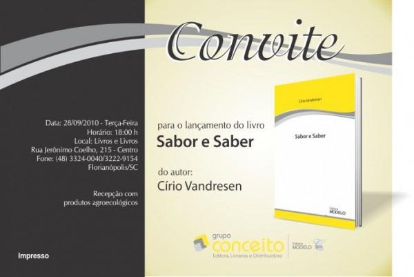 Convite – LanÇamento Livro  Cirio Vandresen