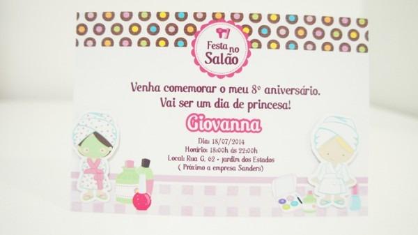 Convite Salão De Beleza 10x15 No Elo7