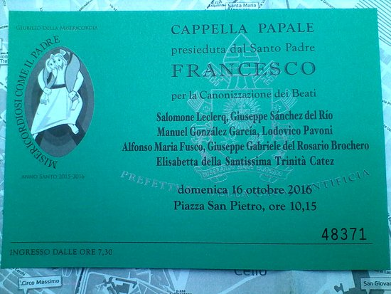 Convite Santa Missa, Vaticano