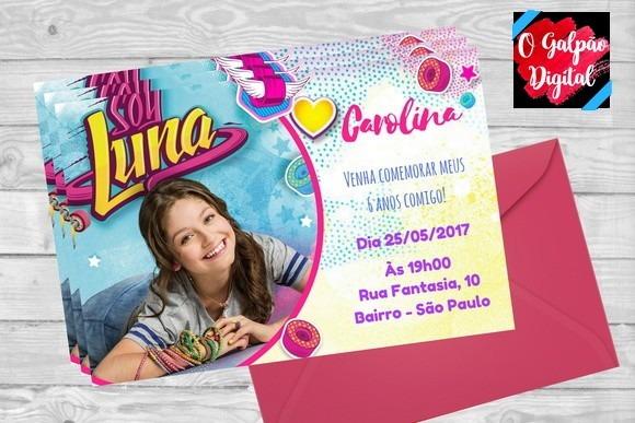 Convite Soy Luna No Elo7