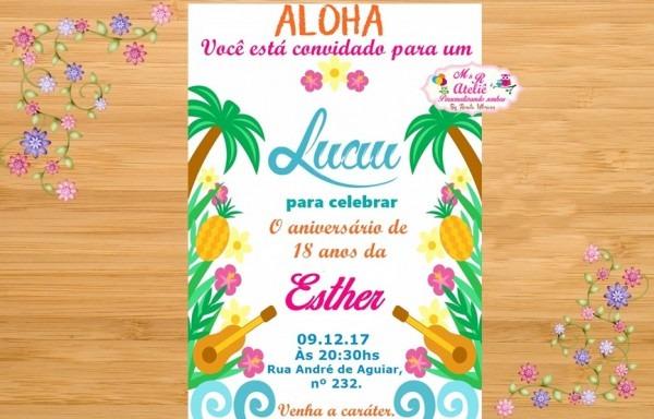 Convite Tropical No Elo7