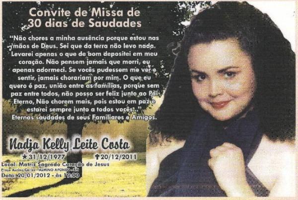 A Folha Patuense  Convite Missa De 30 Dias