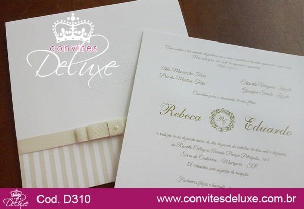 Convite De Casamento Clássico, Elegante E Sofisticado