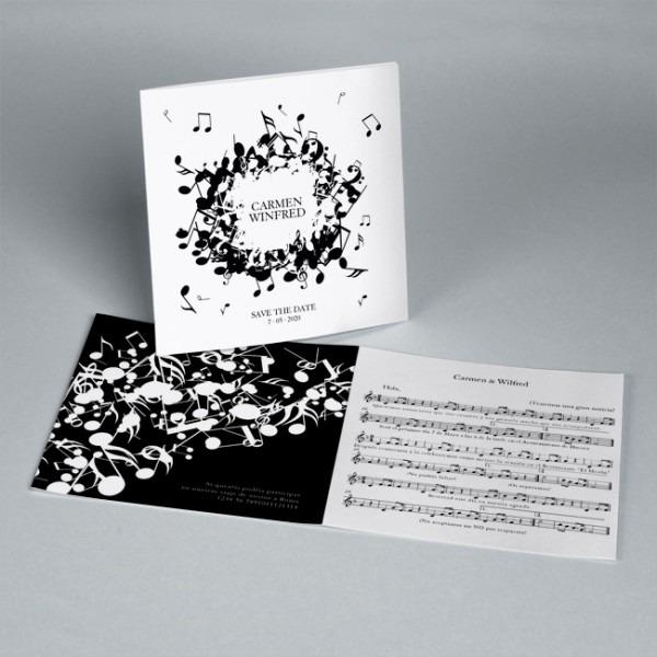 Convites Casamento Música 20248