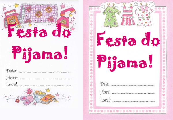 20 Convites De Festa Do Pijama Para Imprimir