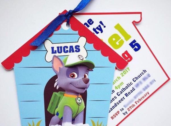 Convites Patrulha Canina Casinha Cachorro 40 Unidades