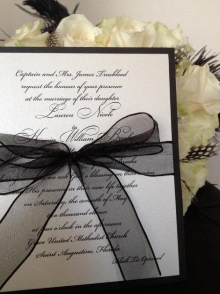 25 Convites Preto E Branco Incríveis – Modelos Para Todos Os Gostos!