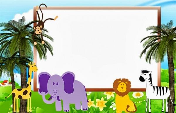 Convites Animais Na Floresta (safari) Para Imprimir