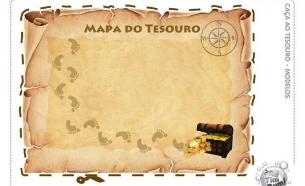 Convite Mapa Do Tesouro Jake