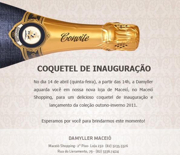 Convite Coquetel Damyller – Algoàlámode