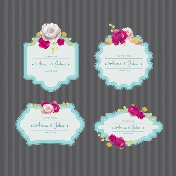Design Elegante Da Etiqueta Do Convite Do Casamento