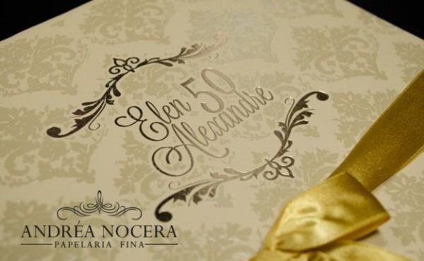 Convite De 50 Anos Dourado