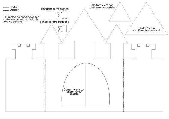 Molde Convite Castelo Para Imprimir