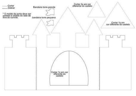 Resultado De Imagem Para Castelo No Ceu Molde