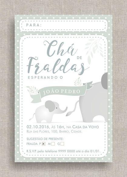 Convite Cha De Bebe
