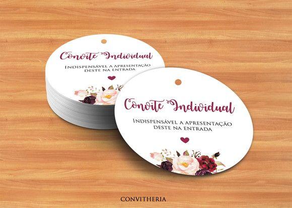 C28  Tag Convite Individual Redonda Marsala