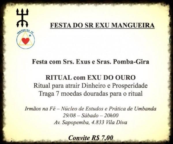 Festa Srº Exu Mangueira, Exus E Pomba