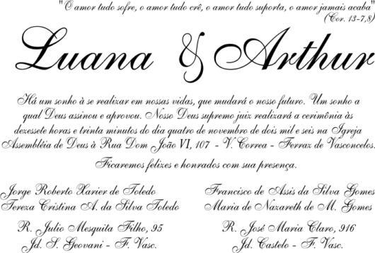 Frases Para Convite De Casamento – 30 Ideias P  Todos Os Gostos!