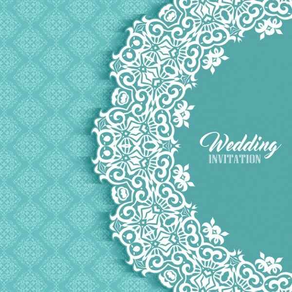 Fundo Do Convite Do Casamento De Decoração Com Design De Estilo Do