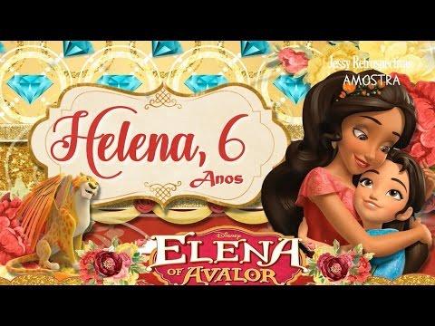 Convite Animado Elena De Avalor