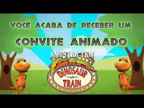 Convite Dino Trem Tkm Convites Animados