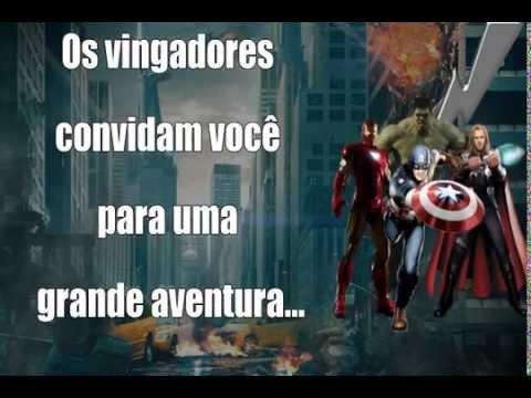 Convite Virtual Vingadores