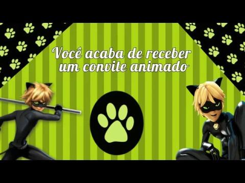 Convite Animado Cat Noir