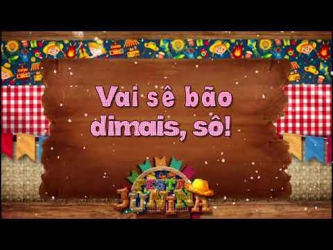 Convite Animado Festa Junina, Arraia, São João