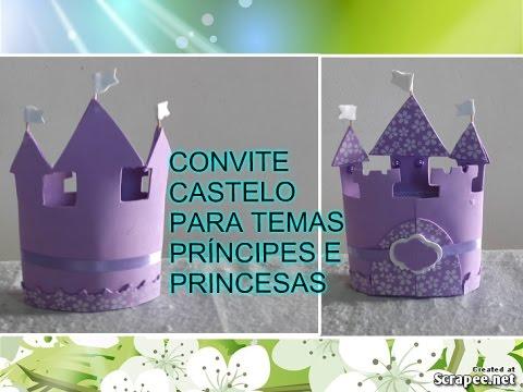 Como Fazer Convite Castelo Em Eva (( Princesa Sofia))