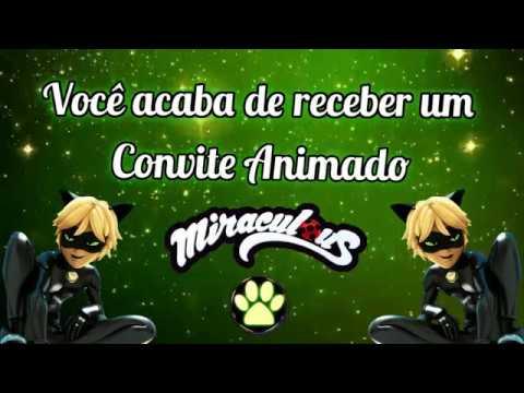 Convite Animado Cat Noir Miraculous Tkm Convites Animados
