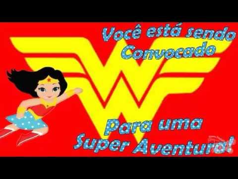 Convite Animado Mulher Maravilha Infantil