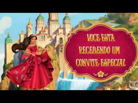 Convite Animado Da Princesa Elena De Avalor