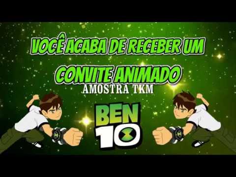 Convite Animado Ben 10 Tkm Convites Animados