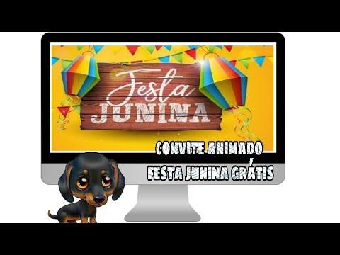 Convite Animado Festa Junina Grátis