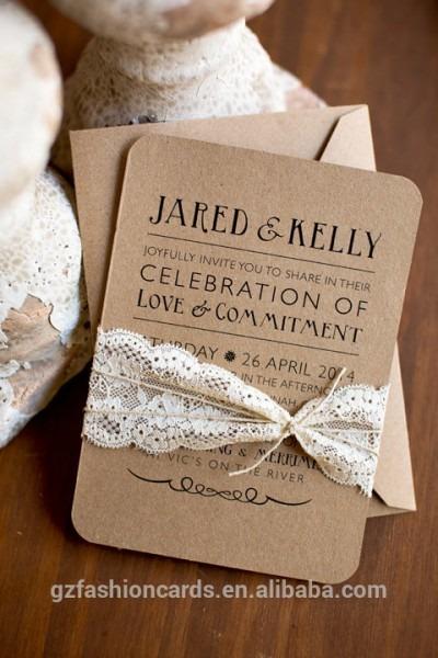 Rústico Elegante E Country Chic Convites De Casamento Artesanais