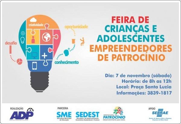 Convite Feira De Crianças E Adolescentes Empreendedores De