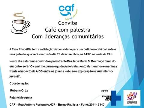 Convite – CafÉ Com Palestra Com LideranÇas ComunitÁrias – Rede