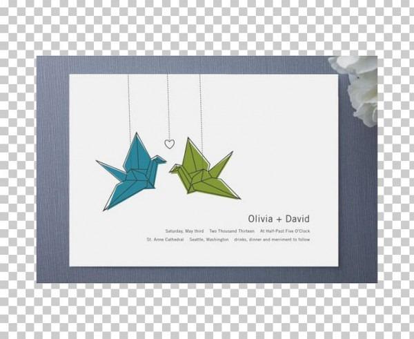 Wedding Invitation Paper Crane Origami Orizuru Png, Clipart, Art