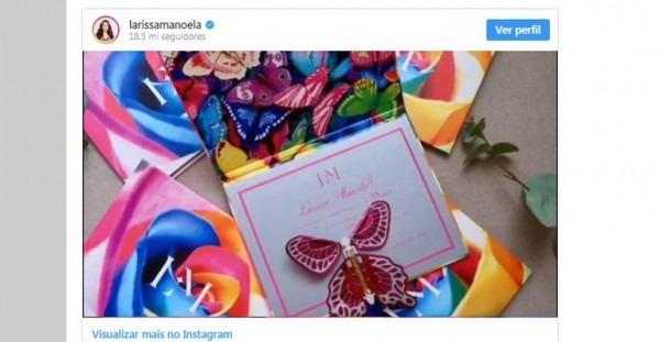 Larissa Manoela Choca Fãs Ao Exibir Convite Luxuoso De Seu