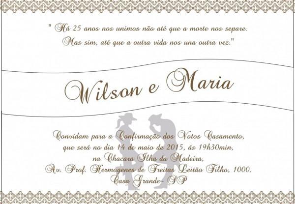 Vav  O Grande Amor Da Minha Vida Convite De Casamento