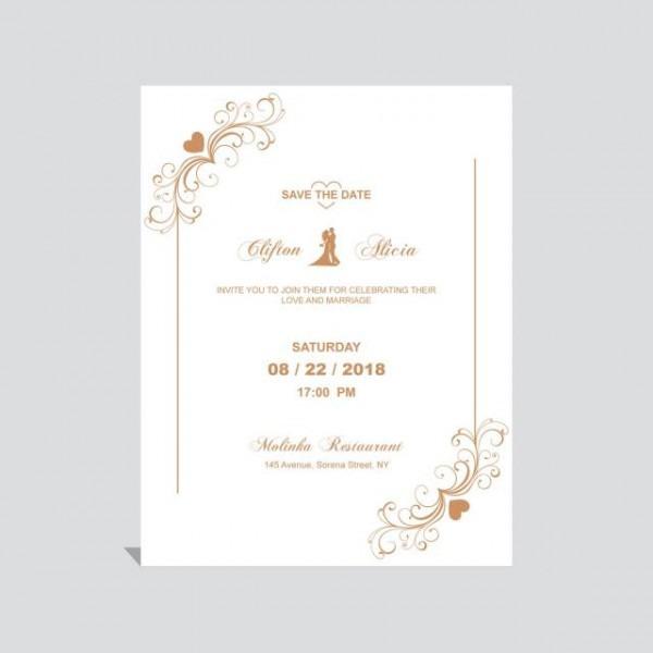 Convite De Casamento Com Detalhes Florais Do Vintage Modelo Para