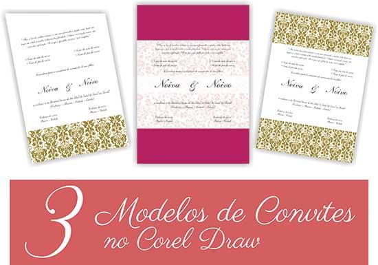 Modelos De Convites De Casamento No Corel Draw (baixar Em Vetor