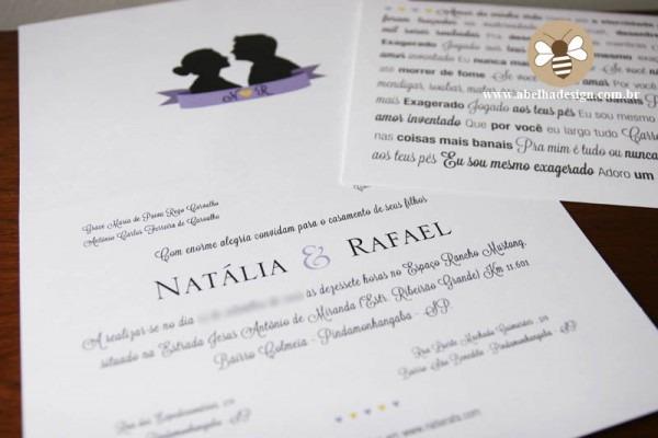 Convite De Casamento Com Letra De Música