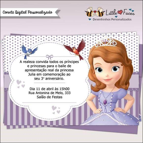 Convite Princesa Sofia – Modelos De Convite