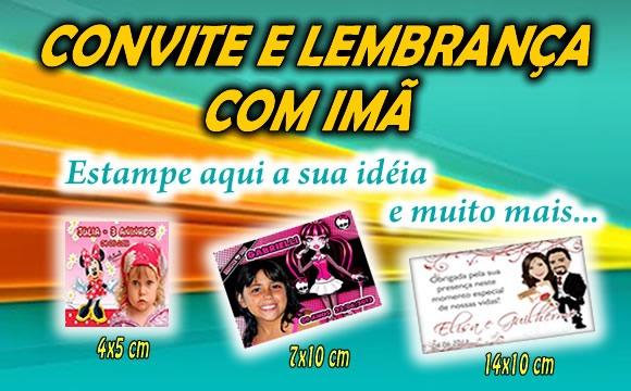Convite Com Imã De Geladeira Personalizado Por Apenas R$0,00