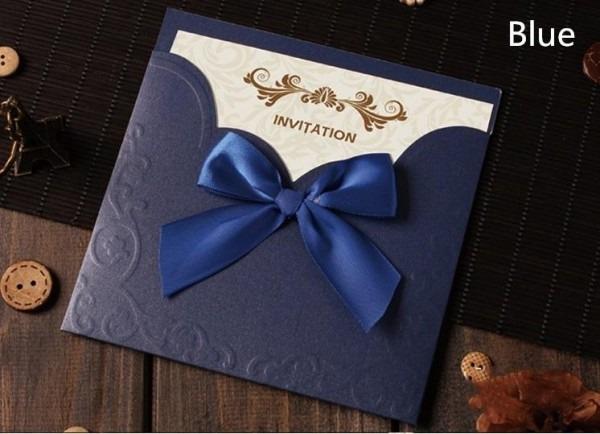 Convites Casamento Online Venda Quente Escuro Azul Royal Laser