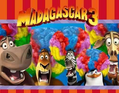 Kit Madagascar 3 + Desenha Convites + Cartões + Ref 002