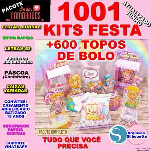 Arquivos Silhouette 1001 Kits Topos De Bolo Convites Caixas