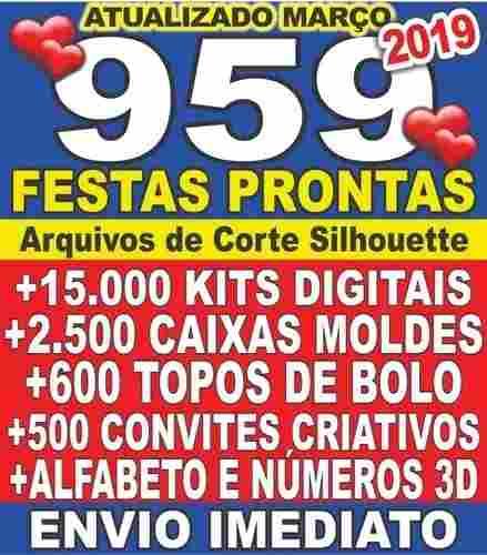 Silhouette 959 Kits Topos De Bolo Convites Caixas Março 2019